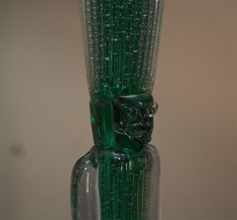 Modernist Table Lamp Signed Seguso For Sale 1