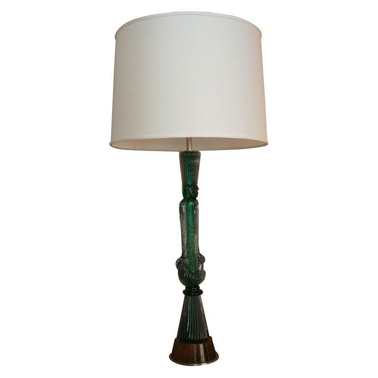 Modernist Table Lamp Signed Seguso For Sale
