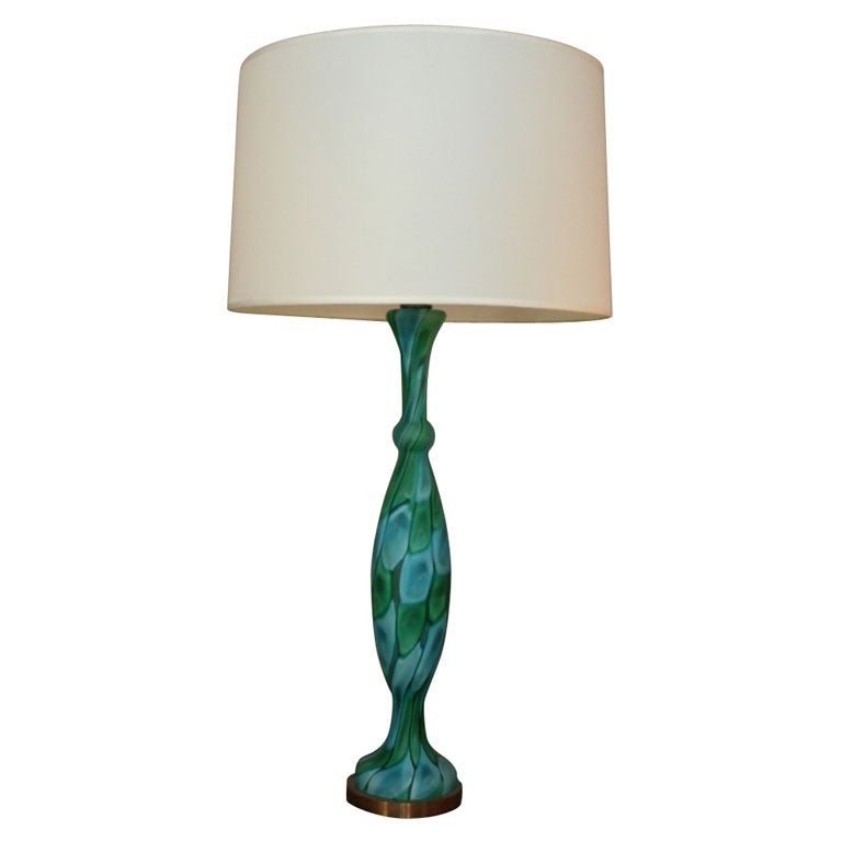 Italian Art Glass Table Lamp by Fratelli Toso