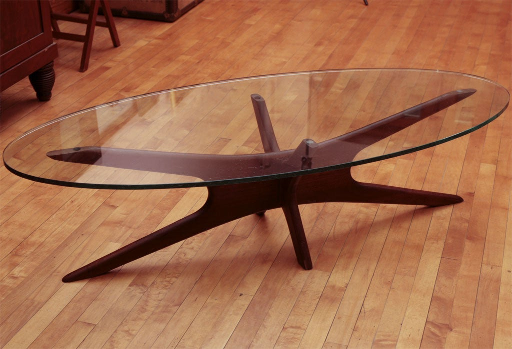 Vladimir Kagan Mid Century Glass Topped Coffee Table At 1stdibs