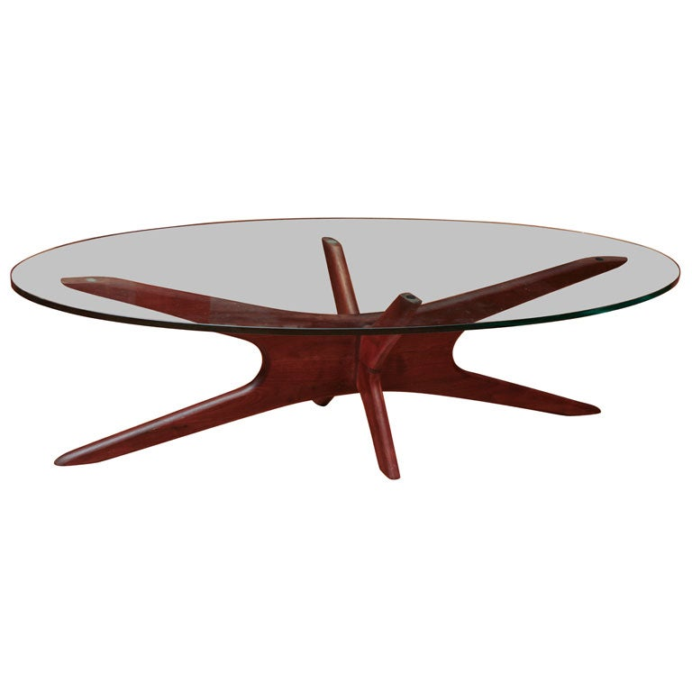 Vladimir Kagan Mid Century Glass Topped Coffee Table At 1stdibs