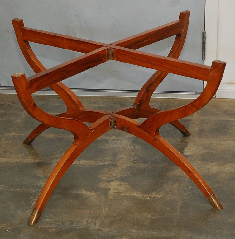 Low Fold Away Coffee Table: Tray Top Table On Folding Stand At 1stdibs