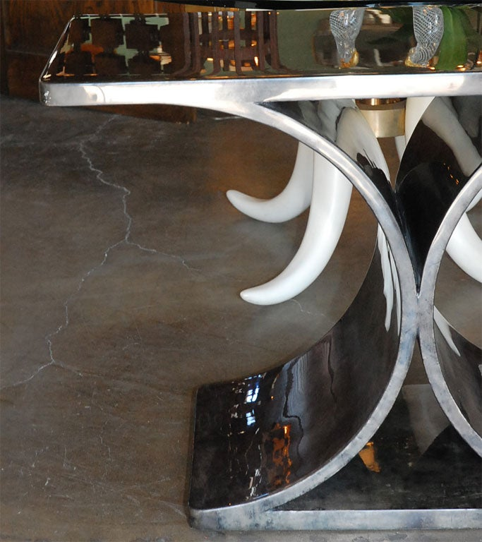 Parchment Console Inspired by Jean-Michel Frank/Karl Springer For Sale 1