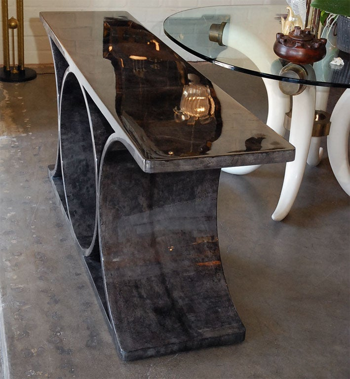 Parchment Console Inspired by Jean-Michel Frank/Karl Springer For Sale 2