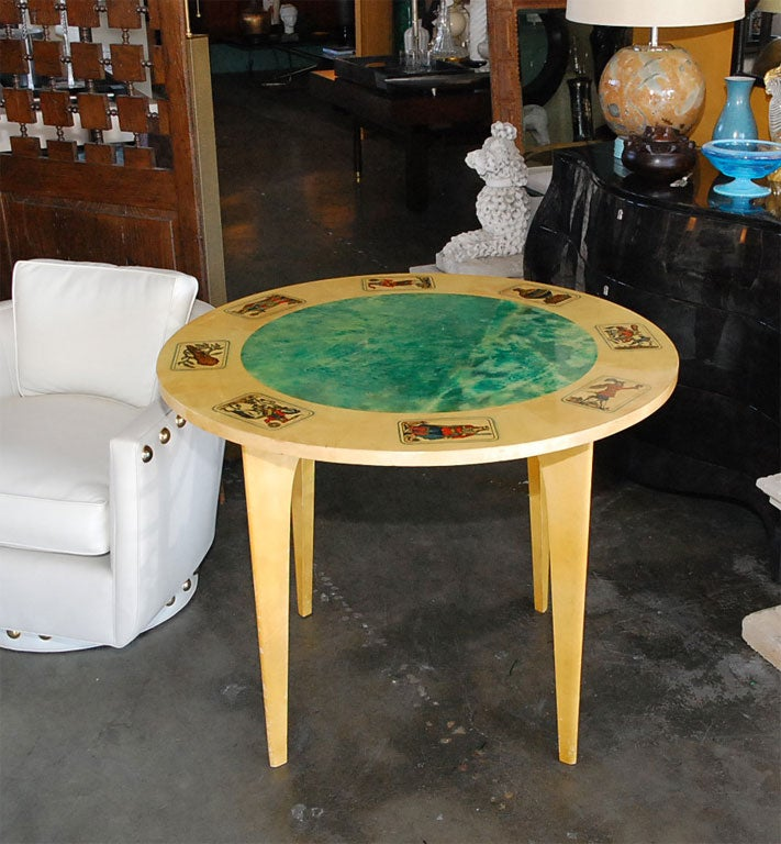 Mid-Century Aldo Tura Parchment Game Table 3
