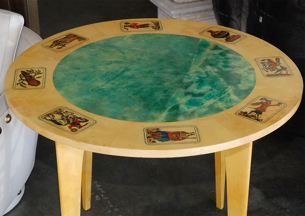 Mid-Century Aldo Tura Parchment Game Table 4