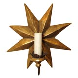 8024 Pair of Star Shaped Sconces
