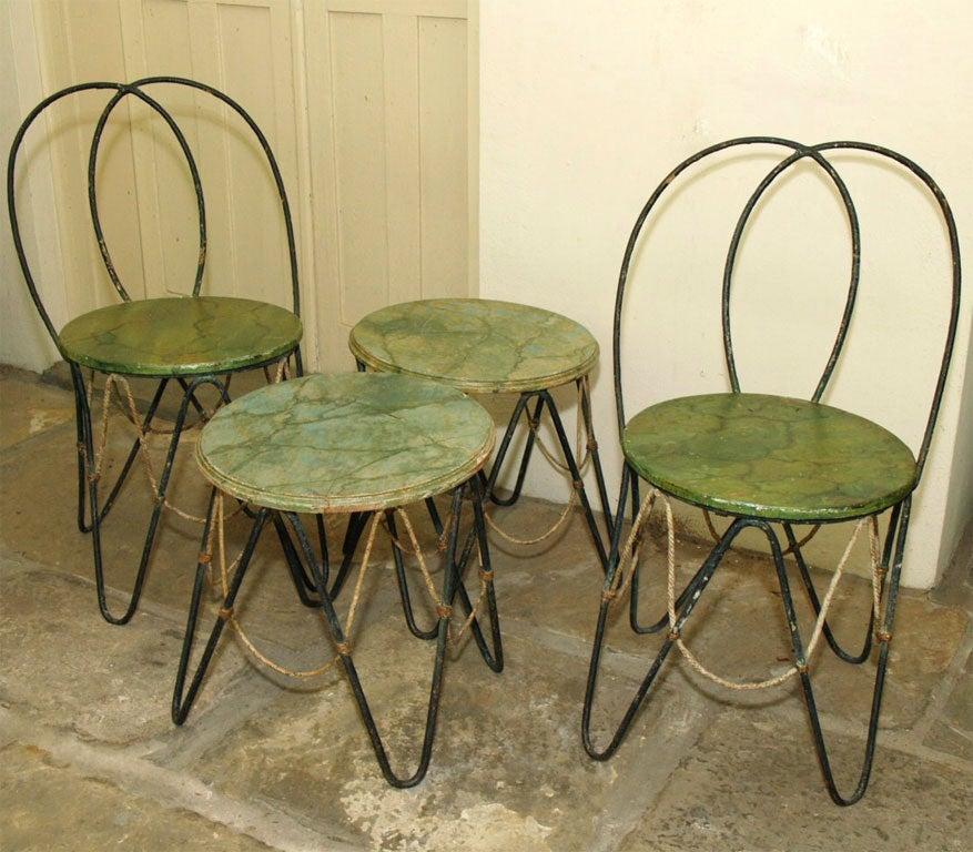 Set Of 1920u0027s French Garden Furniture 2