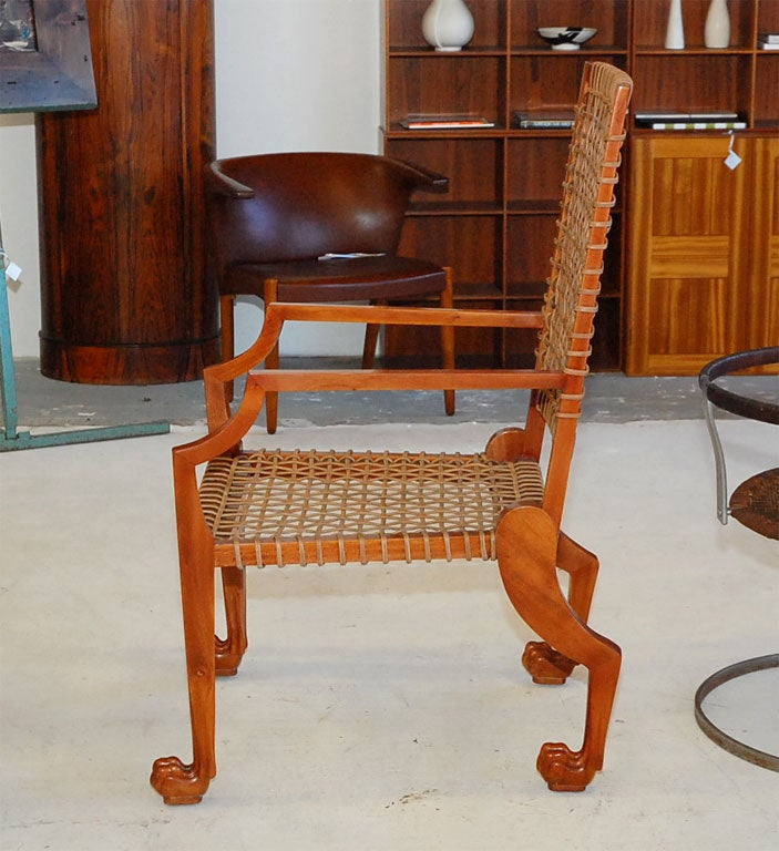 Mahogany Lion Paw Arm Chairs For Sale At 1stdibs