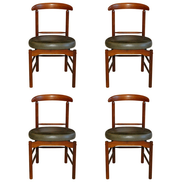 Set of two dining chairs by glenn california at stdibs