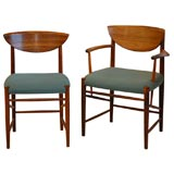 Set of Six Huidt and Molgaard Dining Chairs