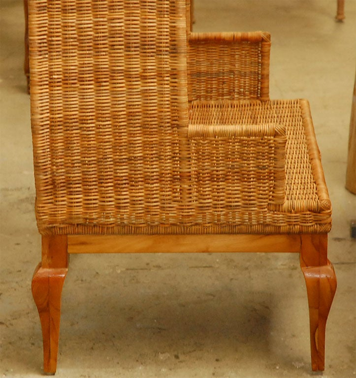 Wicker Canopy Chair At 1stdibs
