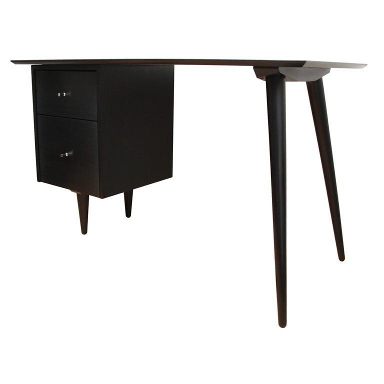 Paul McCobb Planner Group black lacquer desk