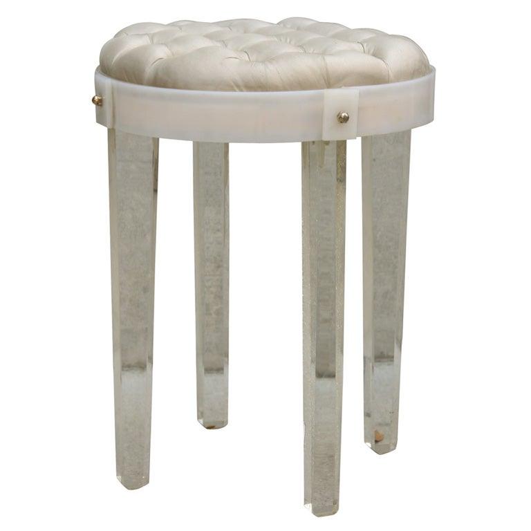 1940 39 s boudoir vanity stool by grosfeld house at 1stdibs for Boudoir stoel