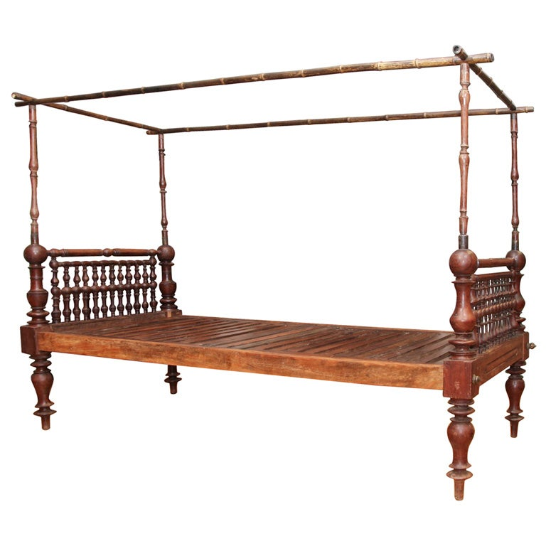 Colonial Style Rosewood Day Bed At 1stdibs