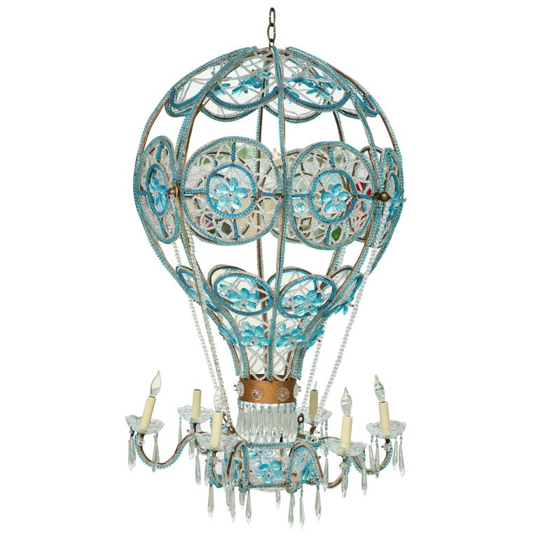 Italian beaded hot air balloon chandelier at 1stdibs italian beaded hot air balloon chandelier for sale mozeypictures Images