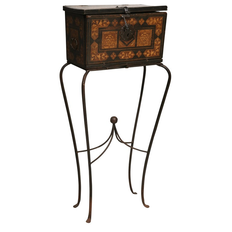 Spanish Colonial 18th Century Traveling Writing Desk At