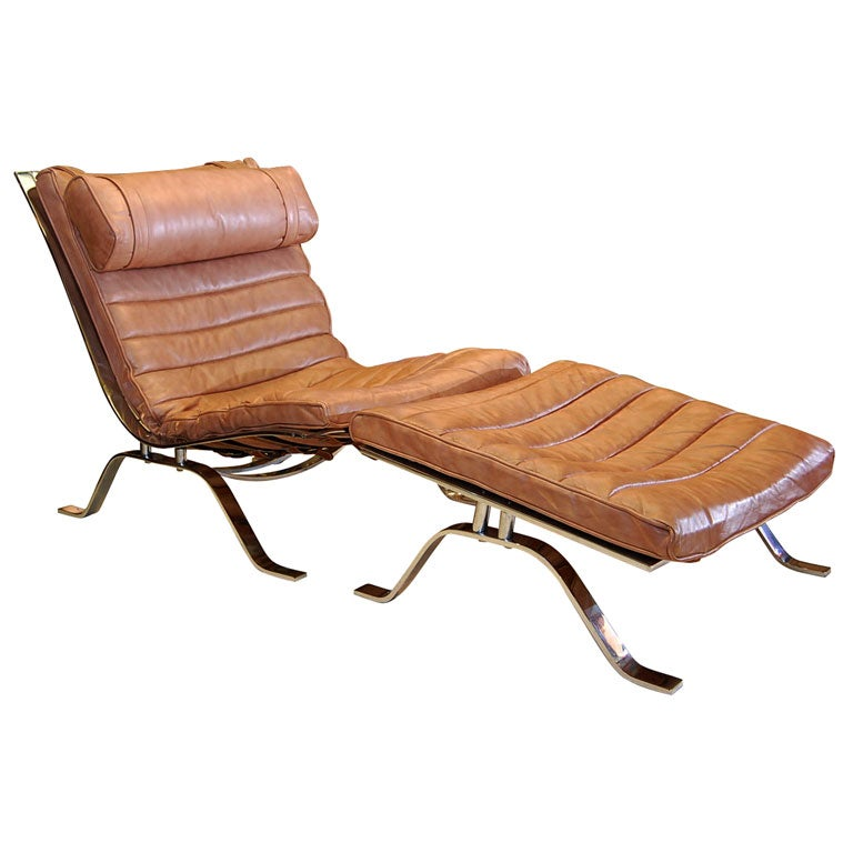 Chair and ottoman by arne norell at 1stdibs - Chaise longue montreal ...