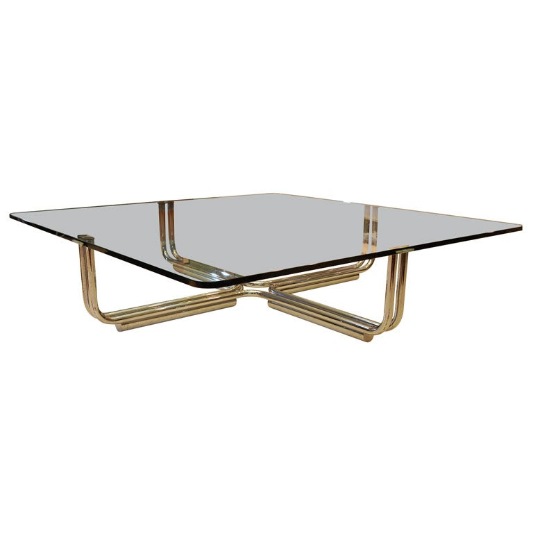 Italian Glass Coffee Table By Giancarlo Frattini For Cassina At 1stdibs