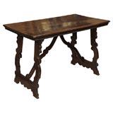 late 17th century Italian Baroque walnut library table