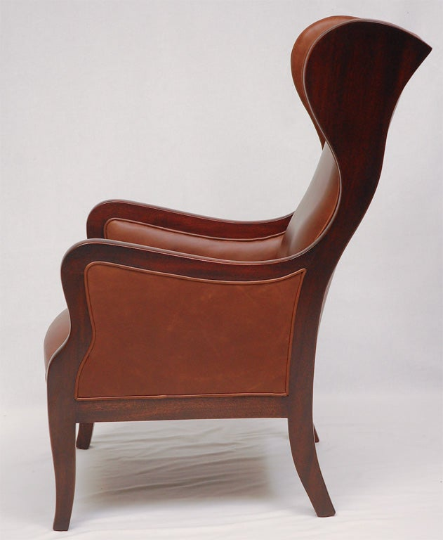 Danish Frits Henningsen Wingback Armchair For Sale