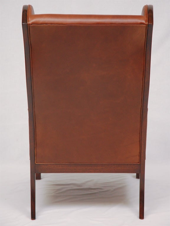 Mid-20th Century Frits Henningsen Wingback Armchair For Sale