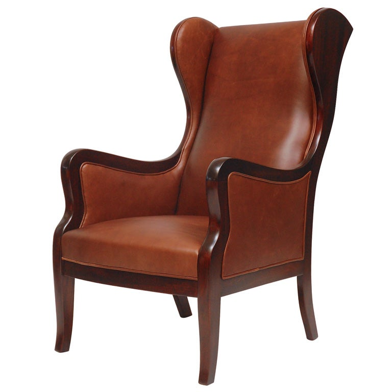 Frits Henningsen Wingback Armchair For Sale