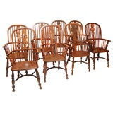 8 Country English Windsor Chairs