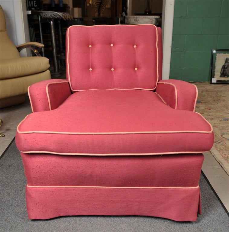Pair of Overstuffed Chairs at 1stdibs