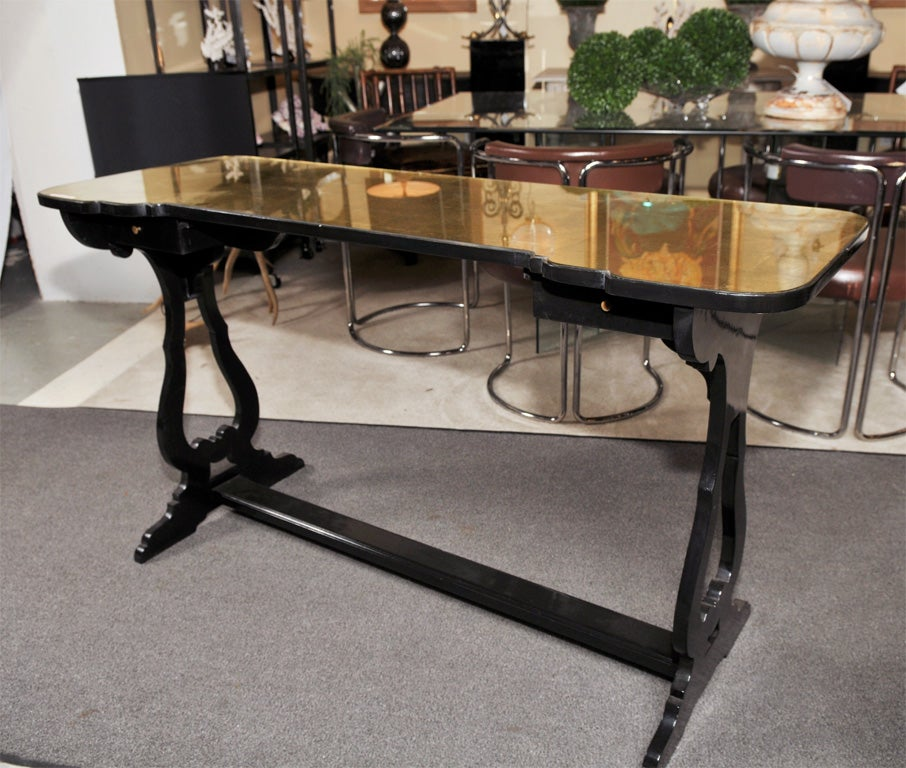 Maison Jansen Glass Top Console Table For Sale At 1stdibs