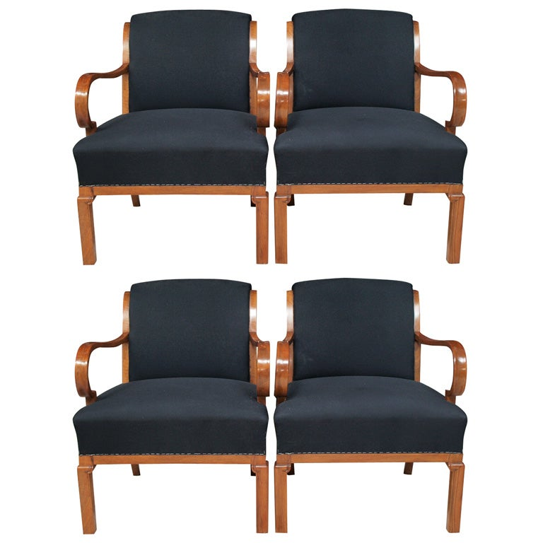 Four interesting birch armchairs at 1stdibs for Interesting armchairs