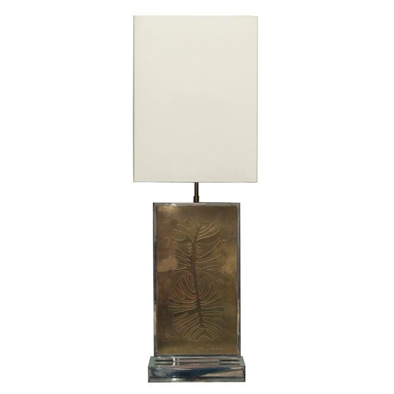 Table Lamp Signed Roger Vanhevel 1