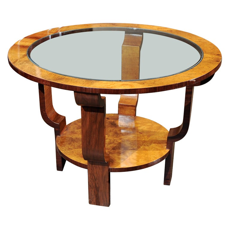 nice art deco coffee or end table at 1stdibs. Black Bedroom Furniture Sets. Home Design Ideas