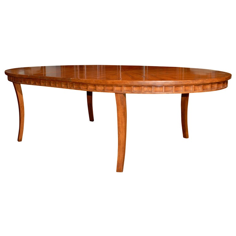 provencial style oval fruitwood dining table w 2 leaves at 1stdibs
