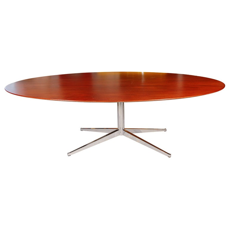 Florence Knoll Elliptical Dining Table At 1stdibs