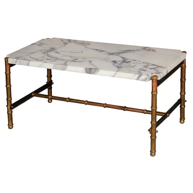 Http Www 1stdibs Com Furniture Tables Coffee Tables Cocktail Tables Jacques Adnet Marble Top Bronze Dore Faux Bamboo Coffee Table Id F 327680