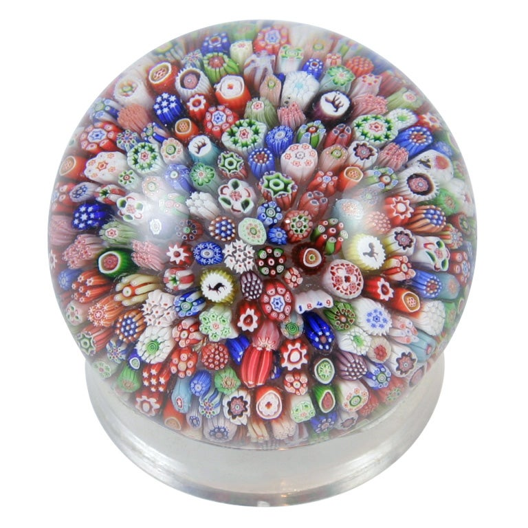 Antique Baccarat Millefiori Paperweight At 1stdibs
