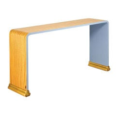 Jean-Bérenger de Nattes, Satinwood Console, France, 2008