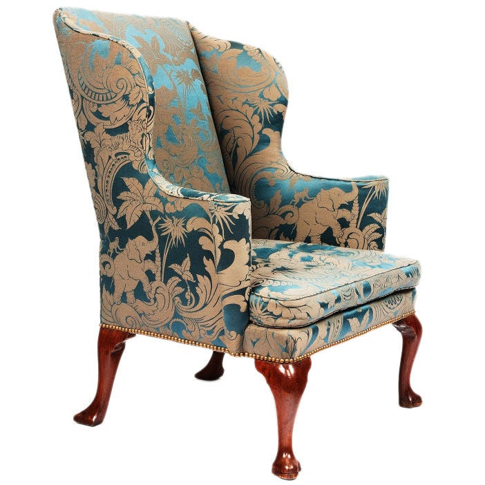 George I Upholstered Wingback Armchair At 1stdibs