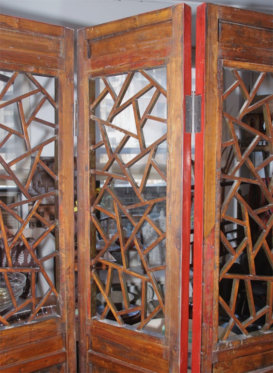 Six Panel Screen with Cracked Ice Pattern image 10