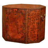 Large Chinoiserie Painted English Hat Box with Octagonal Form
