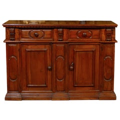 Large Italian Credenza in Walnut, 19th Century