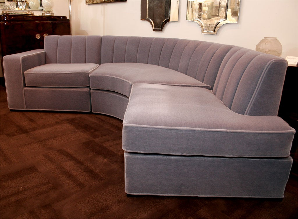 Streamline Art Deco Three Piece Sectional Sofa image 2