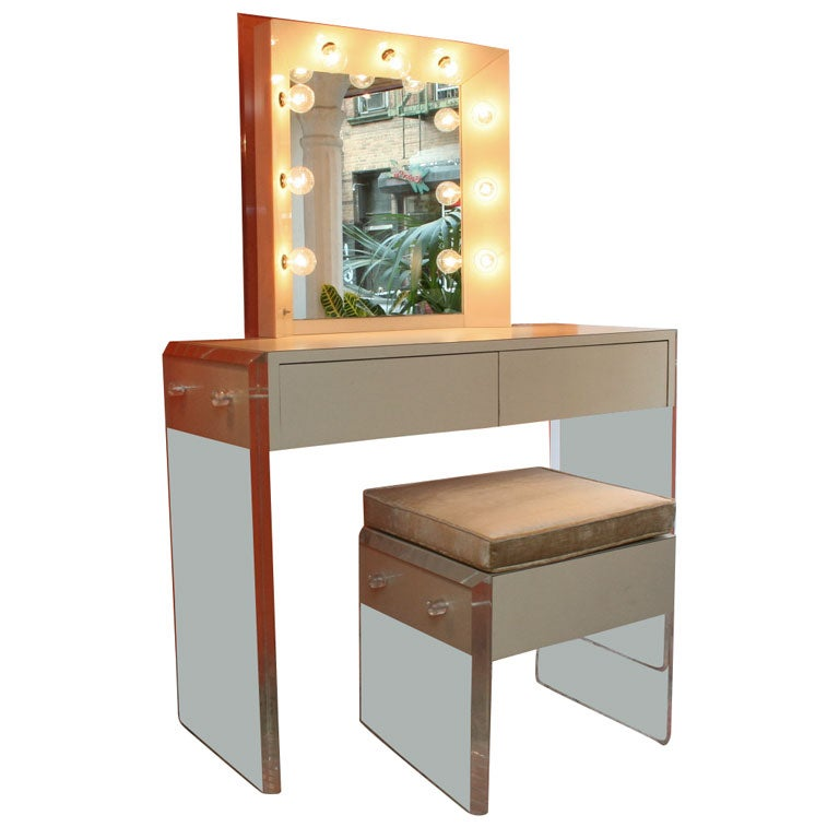 Lucite Vanity Set At 1stdibs
