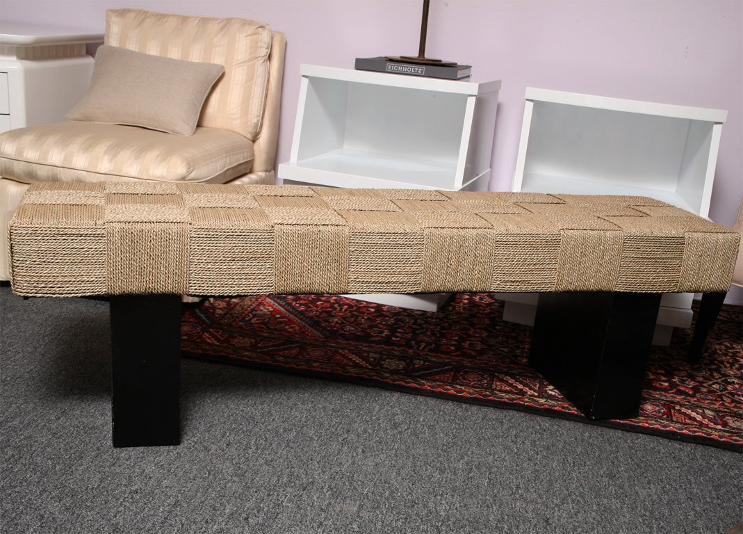 Handwoven Seagrass Bench Artisan Made At 1stdibs