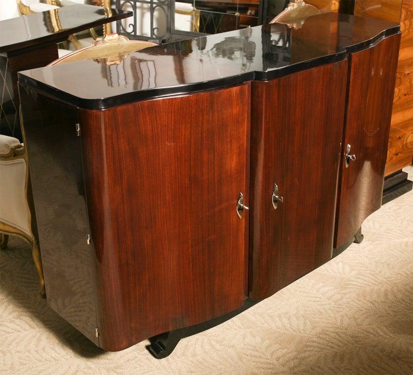 French Art Deco Palisander Buffet Entertainment Cabinet