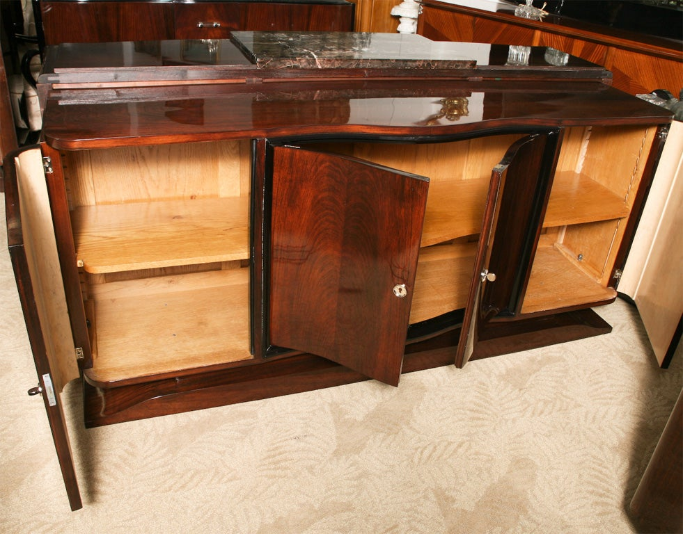 French Art Deco Exotic Rosewood Buffet Sideboard
