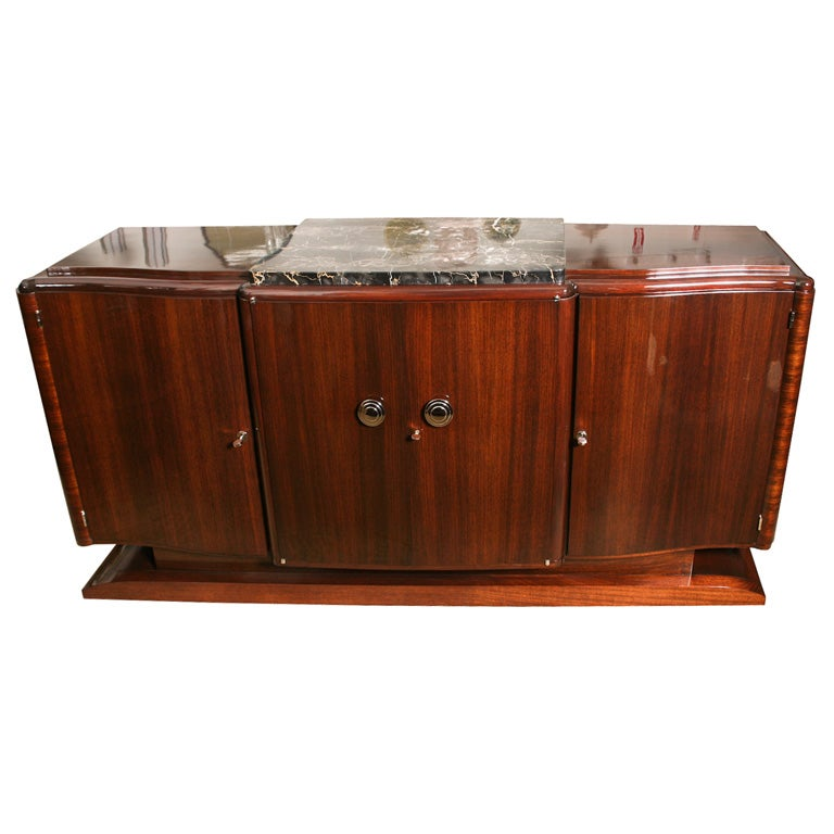 classic french art deco buffet sideboard credenza at 1stdibs. Black Bedroom Furniture Sets. Home Design Ideas