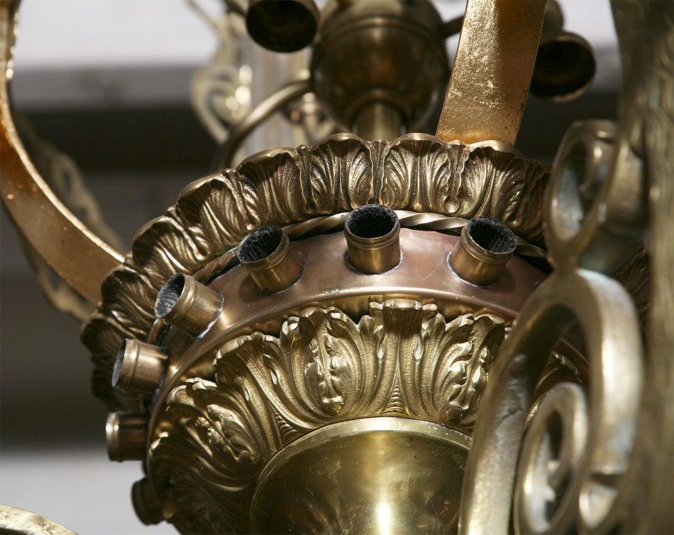 19thc Monumental Gilt Bronze Quot Palace Quot Chandelier 90