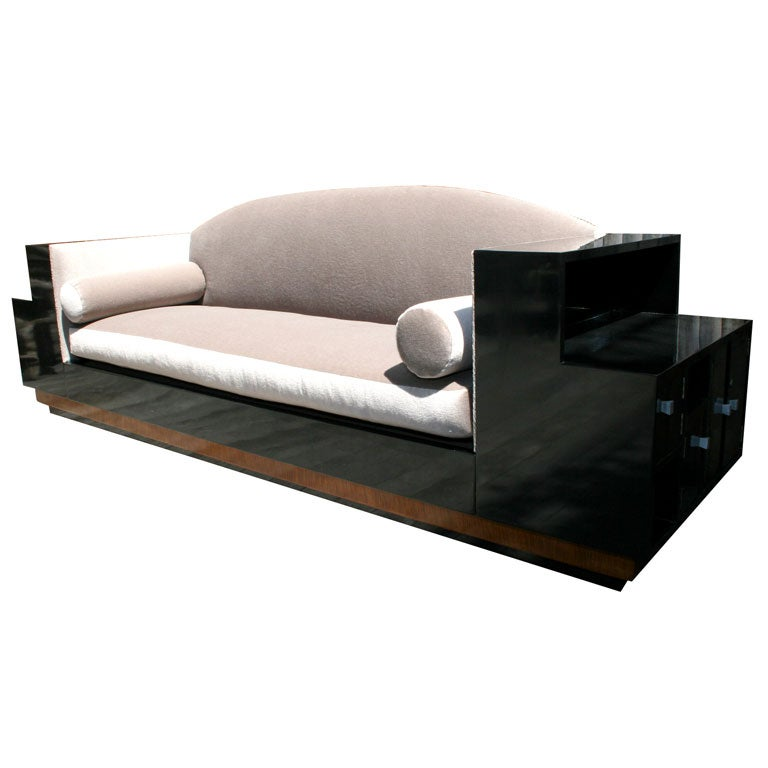 An american art deco style custom sofa attributed to paul